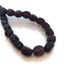 Rectangular Four Sided Garnet Beads by BeadtotheMax on Etsy