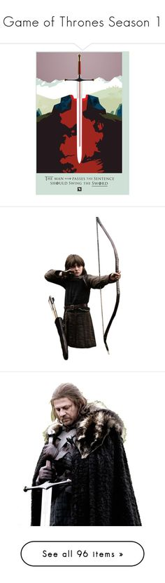 """""""Game of Thrones Season 1"""" by annette-heathen ❤ liked on Polyvore featuring doll parts, game of thrones, dolls, got, house stark, people, accessories, hats, cap hats and asoiaf"""