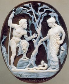 Cameo of Athena and Poseidon - Sardonyx-onyx, 1st century B.C, at the National Archaeological Museum, Naples