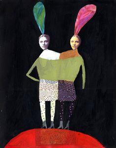 K streeter twins What Is Contemporary Art, Creation Art, Art Sculpture, Mark Making, Community Art, Beautiful Artwork, Collage, Figurative Art, Art Boards