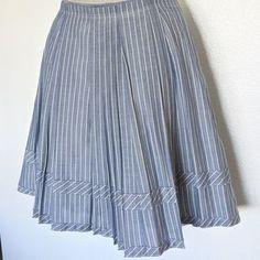 Madewell Skirts | Madewell Chambray Pleated Lined Cotton Skirt | Poshmark Pleated Skirt, Midi Skirt, Cotton Skirt, Blossoms, Blue Stripes, Chambray, Madewell, Blue And White, Skirts