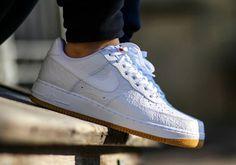 Nike Air Force 1 Low - White Python - Gum - SneakerNews.com