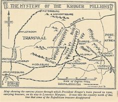 The Kruger Millions is one of the most famous hidden treasure that is still yet to be unearthed. Hidden by President Paul Kruger during the Boer War in South Africa. Buried Treasure, Treasure Maps, Map Symbols, Mindanao, Beautiful Home Designs, Jaguar F Type, Mystery Of History, Ancient Mysteries, Historical Maps