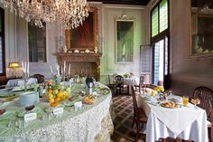 The charming breakfast in the noble floor of Palazzetto Pisani