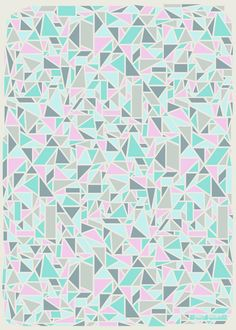 3 Sheets of Geometric Patterned Wrapping Paper - Pink, Turquoise and Grey. £4.00, via Etsy.