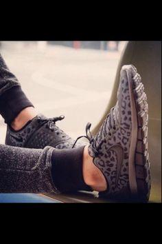 cheetah print nike runners