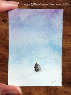 The two of us penguin Aceo original OOAK by thecurioustreehouse, £6.00