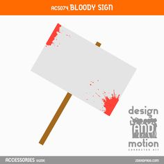 ACS074_Bloody Sign. Part of D&M Character Kit. After Effects Templates, Sign Design, Motion Graphics, This Or That Questions, Kit, Signs, Blog, Character, Accessories