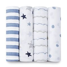 aden + anais Classic Muslin Swaddling Blankets, 4-pack - Rock Star - One Size - 4 pk aden + anais http://www.amazon.com/dp/B00R0I21RK/ref=cm_sw_r_pi_dp_OLgywb0K1JFTV