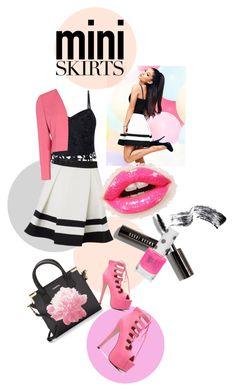 """Miniskirt"" by kari-c ❤ liked on Polyvore featuring Lipsy, Shubette, Calvin Klein, Christian Dior, Bobbi Brown Cosmetics, Topshop and MINISKIRT"