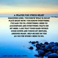 A Prayer for Stress Relief