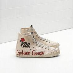 45fa359c1ef2 2017 Golden Goose Francy Femme Chaussures GGDB Sneaker I LOVE U Sneakers  2016