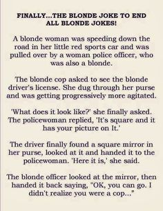 40 Best Dumb Blonde Jokes images | Blonde jokes, Dumb blonde ...