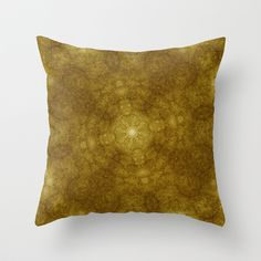 Pseudo Pompous Digital Renaissance - Lace Mandala Throw Pillow by Pseudo Pompous  - $20.00