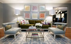 Ideas para decorar salones con lámparas de pie - Decofilia.com