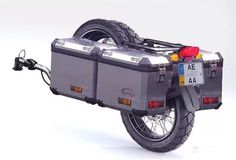 Maybe the only trailer I'd actually consider for a motorcycle. Motorcycle Trailer, Bike Trailer, Motorcycle Camping, Moto Bike, Camping Car, Enduro Motorcycle, Motorcycle Touring, Touring Motorcycles, Gs 1200 Bmw