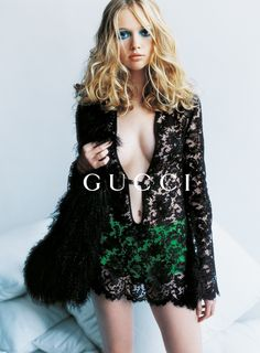 Black Lace & Emerald, Gucci S/S 1996 My poolside cover up