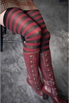 awesome fall look. also, thigh high socks are the shizz.