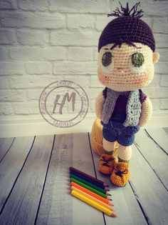 Doll Toys, Dolls, Amigurumi Doll, Backpack Bags, Baby Knitting, Crochet Hats, Cool Stuff, Awesome, Cute