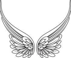 Angel Wings Clip Art, Angel Wings Drawing, Wing Tattoo Designs, Angel Tattoo Designs, Design Tattoos, Body Art Tattoos, Tribal Tattoos, Star Tattoos, Tattoos Of Angels