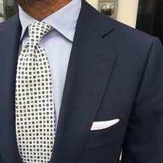 """@suitwhisper is wearing our new """"Cube Pattern 7-fold silk - White"""" tie... Shop our new ties at www.violamilano.com  #violamilano #handmade #madeinitaly #luxury #sartorial #timeless #elegance"""