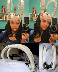 This is the headpiece (I usually just call it horns) for my Lady Loki cosplay! This one on the photo is actually the second one that I make, and I am still not satisfied with it! But I want to wear...