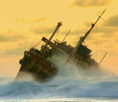 The wreck of the American Star (the former S.S. America)