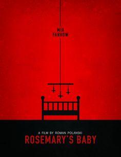 Rosemary's Baby (1968) ~ Minimal Movie Poster by Henry Alvarez