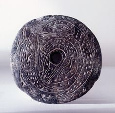 Spindle whorl, used by the Coast Salish, 800 ad, steatite, size ?