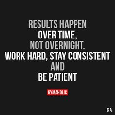Results Happen Over Time, Not Overnight