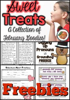 Lots of freebies for Valentines and Groundhog's Day!