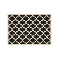 Safavieh Courtyard Moroccan Lattice Indoor Outdoor Rug, Black
