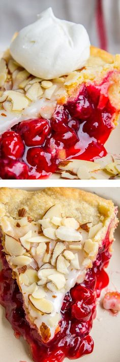 Cranberry Cherry Pie with Almond Glaze from The Food Charlatan.