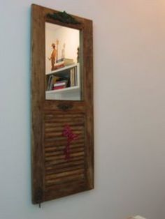 add a mirror to an old shutter