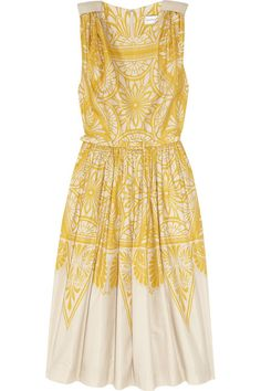 Jonathan Saunders Renton printed cotton and silk-blend dress