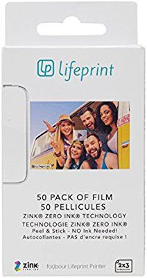 Lifeprint 50 pack of film for Lifeprint Augmented Reality Photo AND Video Printer. 2x3 Zero Ink sticky backed film (PH06): Amazon.ca: Amazon Launchpad
