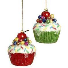 RAZ Cupcake Ornaments
