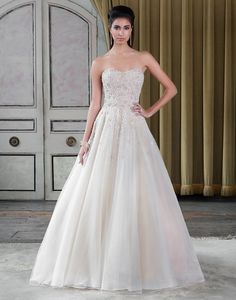 Justin Alexander Signature Spring 2016 Wedding Dresses full collection : http://www.itakeyou.co.uk/wedding/justin-alexander-signature-spring-2016-wedding-dresses/ #weddingdresses #weddingdress | Justin Alexander Signature wedding dresses style 9807 |Strapless, fully beaded tulle and organza ball gown for the lavish bride.: