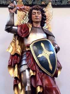 St Michael, one of my patron saints (for my middle name: Michelle)