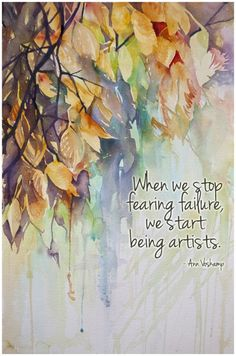 stop fearing start being | Angela Fehr watercolours, Ann Voskamp quote