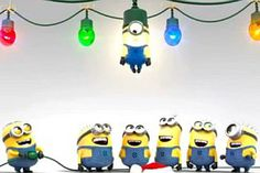 Minion Christmas #2  Best light on the tree, LOL!!!!