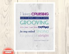 quote print Taylor Swift Shake it off lyrics song by SparksOfLife, $22.00