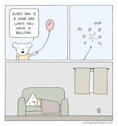 Poorly Drawn Lines: Balloon #webcomics