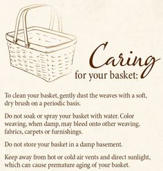 Need to clean your Longaberger basket? Here's how.