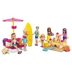 Fashion Doll: Mega Bloks Barbie Beach Day Building Set * You can get more details by clicking on the image. Barbie Games, Barbie Dolls, All Toys, Toys R Us, Kids Store, Learning Games, Toy Boxes, Beach Day, Legos