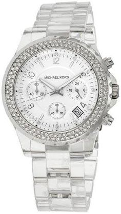 Michael Kors Quartz, Clear Band White Dial - Women's Watch MK5337 #michaelkorswatch #fashion #watch #jewelry https://www.facebook.com/MichaelKorsWatchesUSA