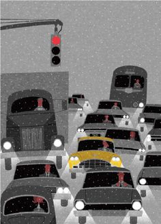 New York In The Winter Print By Ryo Takemasa