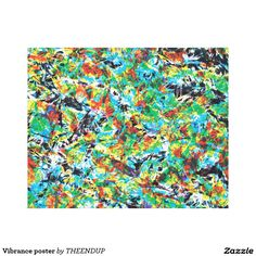 Vibrance poster canvas print