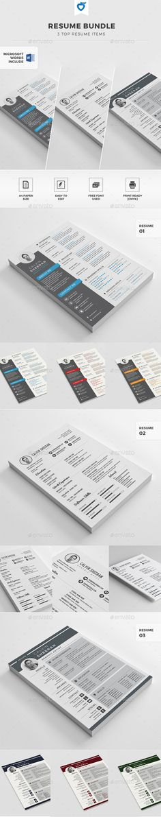 Resume Template PSD, Word Download here http\/\/graphicrivernet - resume on word