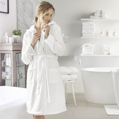 Short Hydrocotton Robe | The White Company